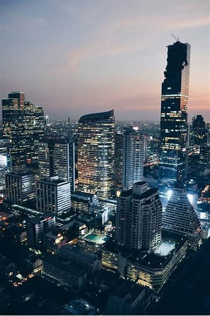 Urban Development Trends Bangkok Thailand Buildings Reliance