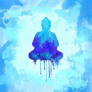 Blue Buddha Watercolor Painting Painting by Thubakabra