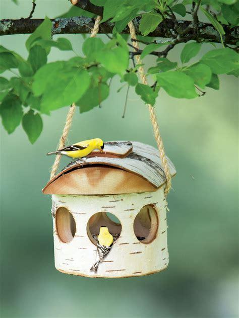 birch bird feeder birch log bird feeder wooden bird feeder