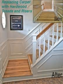 Carpet To Hardwood Stairs by Best 25 Banister Remodel Ideas On Pinterest Staircase