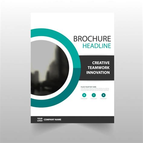 Word Document Brochure Template by Brochure Template Design Vector Free