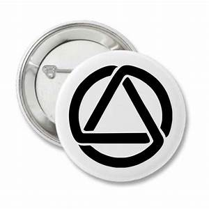 """Sobriety Buttons - """"Circle and Triangle"""" Badges, Keychains ..."""