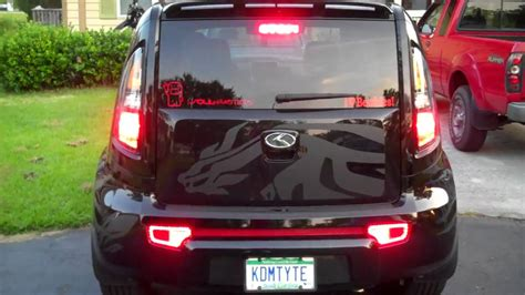 kia soul rear reflector led mod