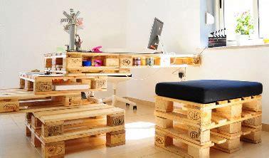 bureau pour studio aménagement studio étudiant avec des meubles en palettes
