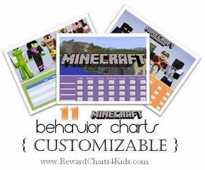 Free Potty Reward Chart Free Printable Customizable Minecraft Behavior Charts