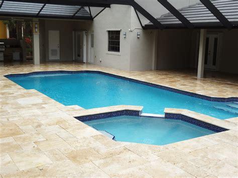 tiles for pool area travertine pool areas travertine pool tile pavers mediterranean miami by stonetileus