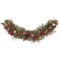 pre decorated christmas garland designcorner