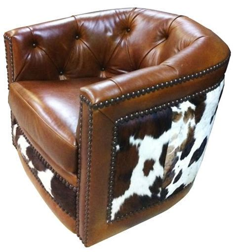 cowhide leather chair 17 best images about cowhide chairs on
