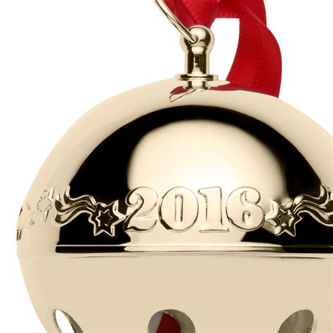 2016 bells on christmas wallace gold sleigh bell ornament 2016 wallace christmas ornament
