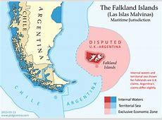 Map The Falkland Islands' Disputed Seas Political