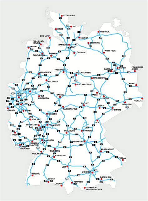 autobahnkarte von deutschland