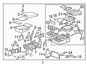 Chevrolet Silverado 2500 Hd Seat Hinge Cover  Center Seat