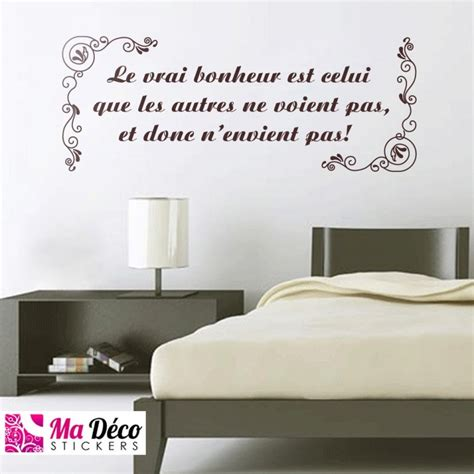 sticker phrase chambre stickers citation quot le vrai bonheur quot cheap stickers