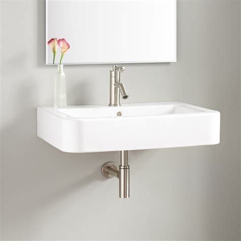 burleson porcelain wall mount sink bathroom