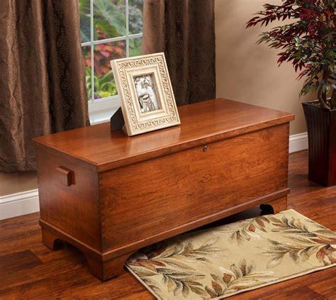 large flat top cherry wood chest  cedar bottom