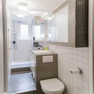 Cout Salle De Bain 4 M2 : une salle de bain en longueur decoration carrelage ~ Melissatoandfro.com Idées de Décoration