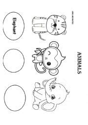 english worksheets  animals worksheets page