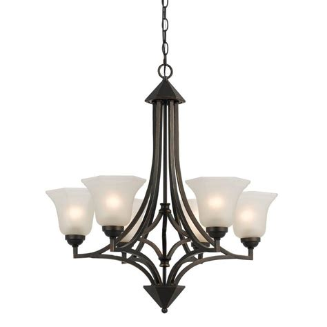 ceiling mount chandelier cal lighting 6 light forged bronze iron