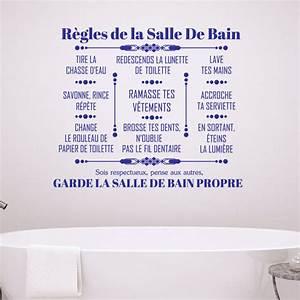sticker citation regles de la salle de bain stickers With pour salle de jeux 10 sticker deco citation regle de la salle de bain