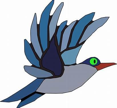 Burung Kartun Terbang Animasi