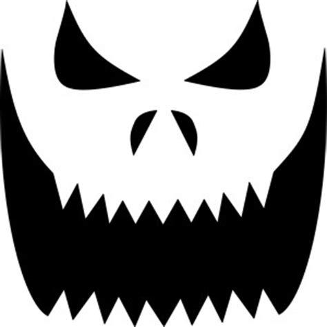 Scary O Lantern Template by The Pumpkin