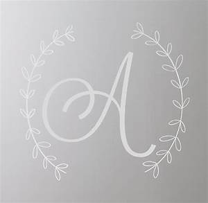wreath letter wall decal white With sticker letters white