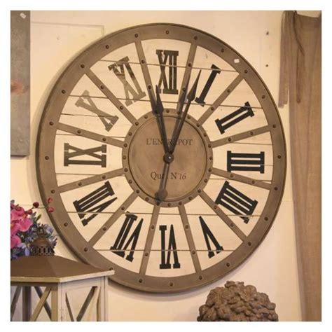 horloge murale style gare horloge gare metal bois murale style industriel d 233 coration r 233 tro