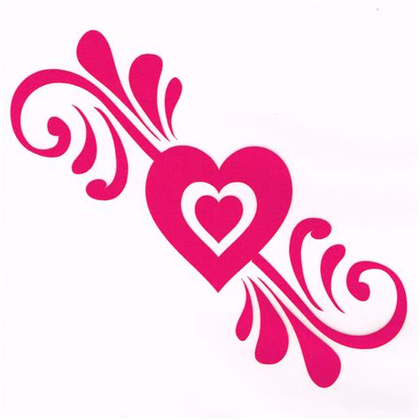 girly car brands girly pink heart car decal decorative accessory