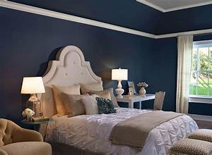 Blue and gray bedroom d?cor navy grey