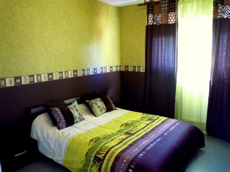chambre vert anis décoration chambre vert anis et chocolat