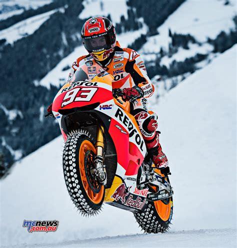 marc marquez rides  snow  rc  motogp mcnewscomau