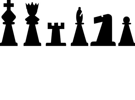 chess pieces set clip art  clkercom vector clip art