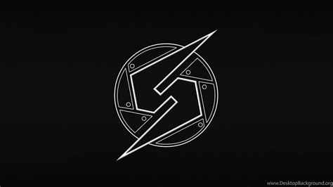 Metroid Logo Black Backgrounds Hd Wallpapers Desktop