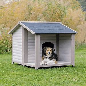 Hundehütte Mit Terrasse : trixie hundeh tte lodge grau ~ Watch28wear.com Haus und Dekorationen