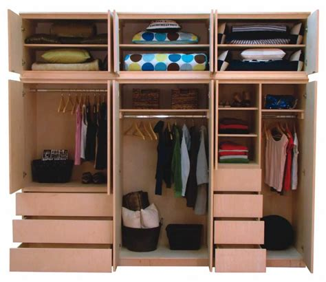 Bedroom Closet Shelving Units by Small Home Design To Maximise Use Of Space Interior