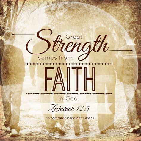 great strength   faith  godzechariah
