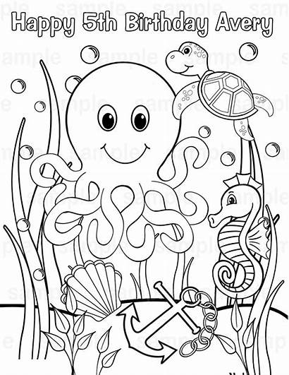 Sea Under Coloring Pages Printable