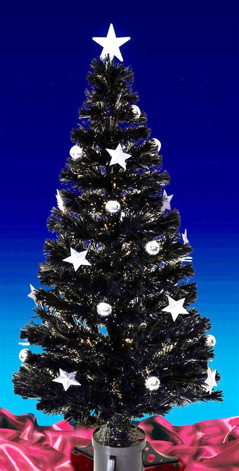 Fibre Optic Christmas Trees Sale Black 6ft by New 3ft 4ft 5ft 6ft Black Fibre Optic Xmas Tree White Led