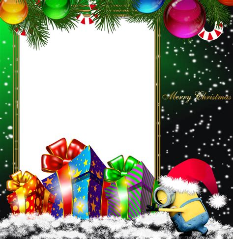 merry christmas green png minion photo frame kids frames pinterest minion photos