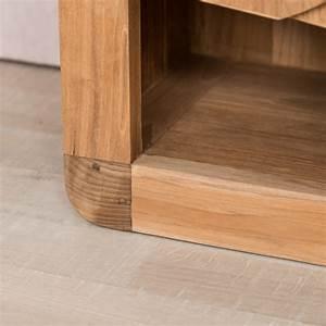 Salle De Bain Moderne Petit Espace : meuble sous vasque simple vasque en bois teck massif ~ Dailycaller-alerts.com Idées de Décoration