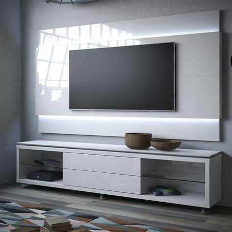 Tv Paneel Wand manhattan comfort lincoln tv stand w casters lincoln