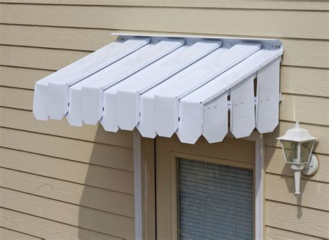 brookside door awning  flat side panels