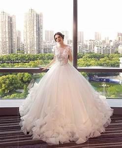 Long white lace wedding dress wedding depot pinterest for Long white wedding dresses