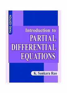 Download Introduction To Partial Differential Equations By Rao  K  Sankara Pdf Online