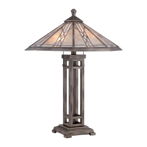 mica shade table l shop quoizel cyrus 25 in anniversary silver table l