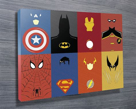 Marvel Wall Decor by Marvel Characters Wall On Canvas Brisbane