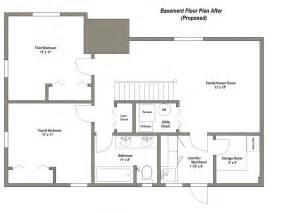 Basements Remodel Floor Plan 28x40