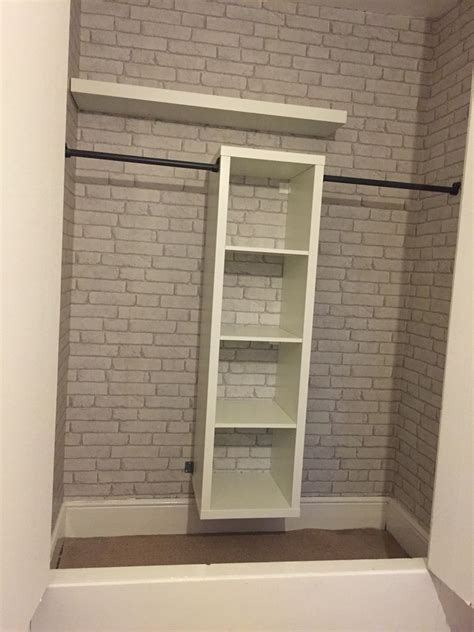 Kallax Ikea Hack by Ikea Kallax Hack Built In Wardrobe And Brick Wallpaper