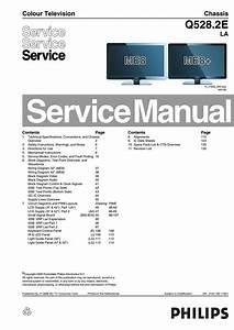 Manual De Servi U00e7o Tv Philips 42pfl7603d 12 Chassis Q528 2e
