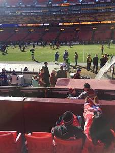 Redskins Seating Chart View Fedex Field Section 120 Home Of Washington Redskins